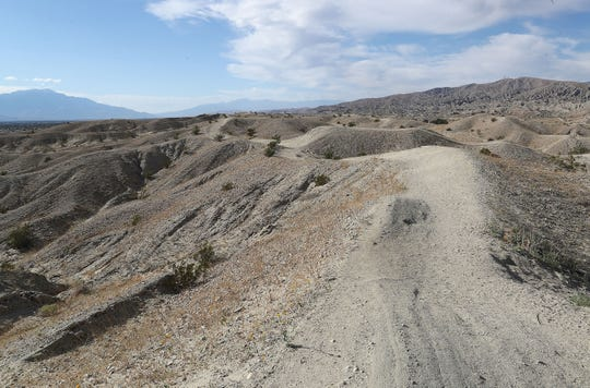 The Indio Hills Badlands hiking trail in north Indio, March 6, 2020.
