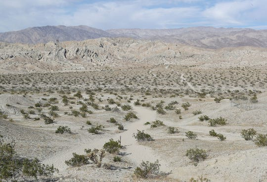 The Indio Hills Badlands hiking trail connects to the open desert to the north in north Indio, March 6, 2020.
