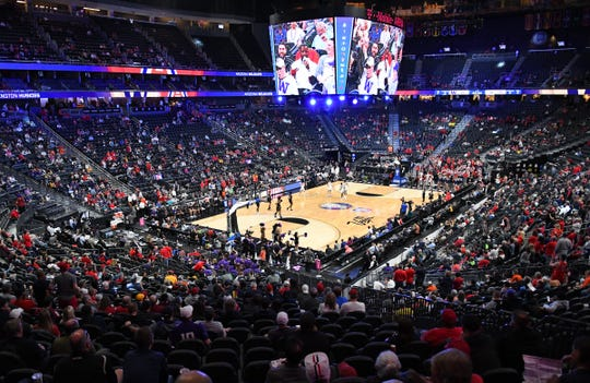 The Arizona Wildcats play against the Washington Huskies at T-Mobile Arena.