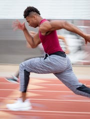 Brenden Rice practices starts, March 10, 2020, at the Hamilton High School track, 3700 S Arizona Ave., Chandler.