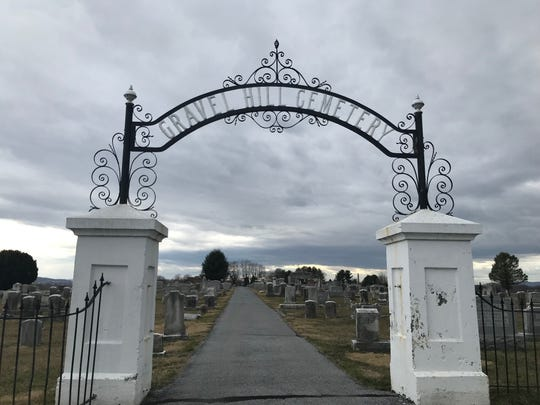 Gravel Hill Cemetery in Palmyra. The cemetery came under fire this week from some families after items of importance were removed from gravesites.
