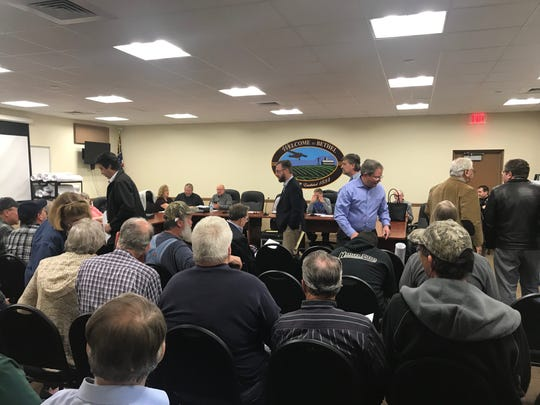 Residents packed a meeting in Bethel Township, Berks County on Tuesday night about a zoning change that would have resulted in a development on existing farmland. The zoning change will not move forward.