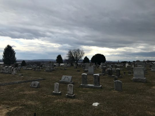 Gravel Hill Cemetery in Palmyra. Items that had been there for years were recently removed from several gravesites.