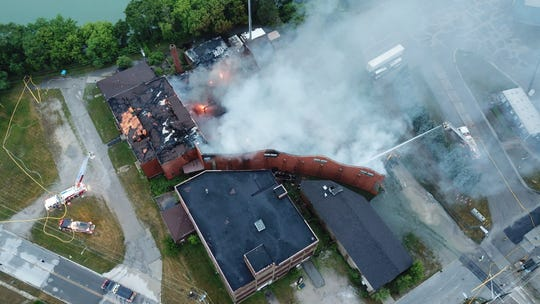 Aerial photos of the Chicory warehouse fire