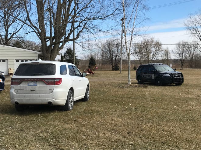 A police car and multiple unmarked cars were at a residence on Richman and Burns Road on March 11, 2020, after a suspicious death was reported in the Smiths Creek area the afternoon of March 10. Upon investigation, Michigan State Police Lt. Dave Kaiser said it is believed the death was caused by suicide.