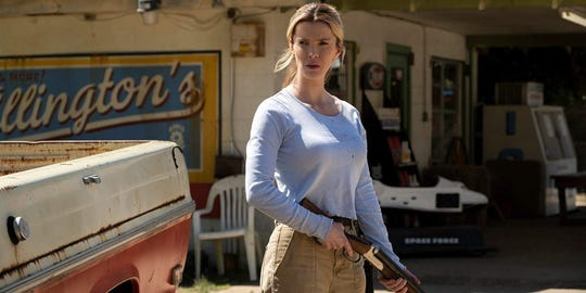 """Betty Gilpin stars in """"The Hunt,"""" playing at Regal West Manchester and Hanover Movies 16."""