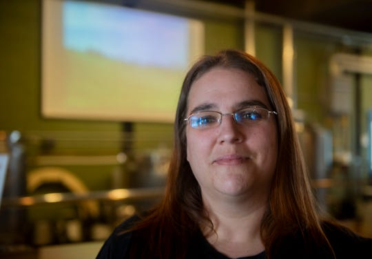 Karrie Myers, 36, of Columbia Kettle Works in Columbia, Pa. Myers, who is the mother of two, is one several hospitality workers who do not have health insurance.