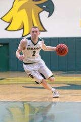 Guard Tyler Collins led Brockport in minutes played (828), assists (122) and 3-pointers (53) while averaging 12.7 points and 3.2 rebounds per game this season.