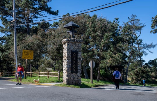 People are seen walking and running around the Asilomar Conference Grounds March 11, 2020.