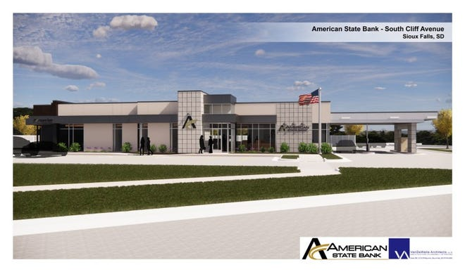Rendering of American State Bank near 85th Street and Cliff Avenue.