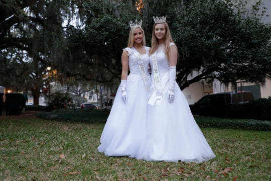 Ansley Topchik, 17, and McKenna Laughlin, 17, are both crowned Miss Springtime 2020.