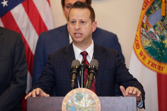 Director of the Division of Emergency Management Jared Moskowitz speaks at a press conference held by Gov. Ron DeSantis on the topic of coronavirus Wednesday, March 11, 2020.