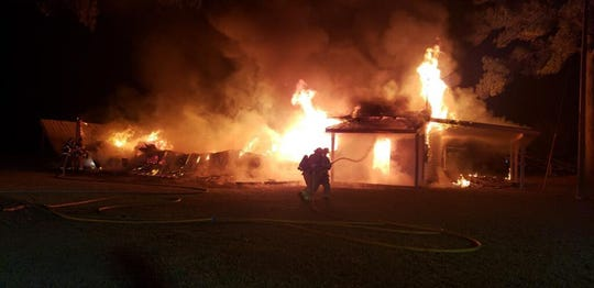 The Tallahassee Fire Department responded to a blaze in the 9800 block of Kenai Drive at 3:30 a.m. Tuesday, March 10, 2020.