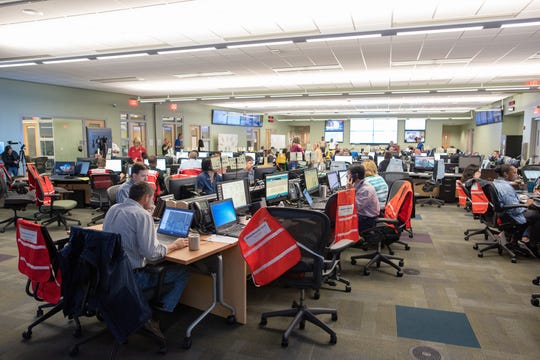 The Leon County Emergency Operations Center has been activated as the county prepares for a possible outbreak of coronavirus. Here officials prepare for Hurricane Michael in 2018