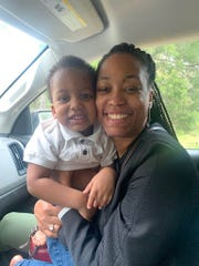 Jacquelyn Steele and her 2-year-old son Colson.