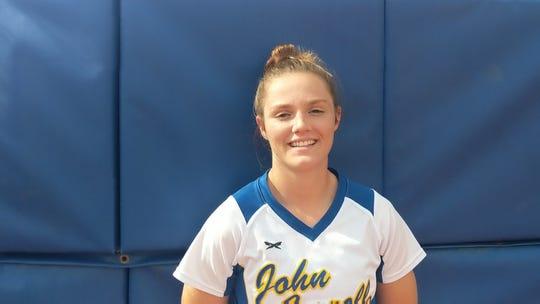 John Carroll softball player Cami Bates