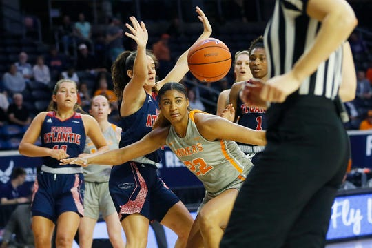 10. UTEP 95, Florida Atlantic 57, March 11, 2020  Dejanae Roebuck during the game against Florida Atlantic Wednesday March, 11, in the first round of Conference USA games in Frisco, Texas.