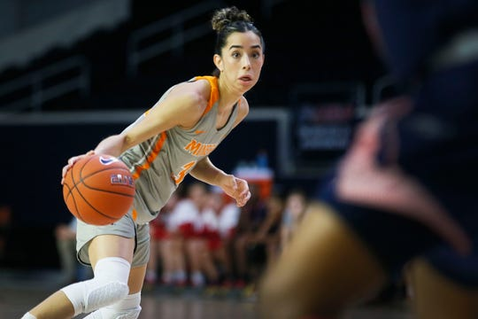 UTEP's Katia Gallegos during the game against Florida Atlantic Wednesday March, 11, in the first round of Conference USA games in Frisco, Texas.