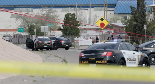 El Paso Police investigate an officer involved shooting Wednesday after a 22-year-old man was seen with a gun near Riverside High School. He was shot a few blocks from the school.