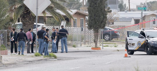 El Paso police investigate an officer-involved shooting Wednesday, March 11, 2020, at Hockney Street.