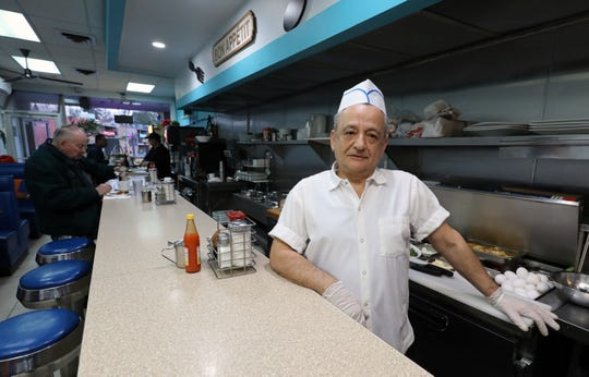 Themis Katehis, the owner of the Rochelle Diner and Coffee Shop in the Quaker Ridge Shopping Center in New Rochelle, March 11, 2020.