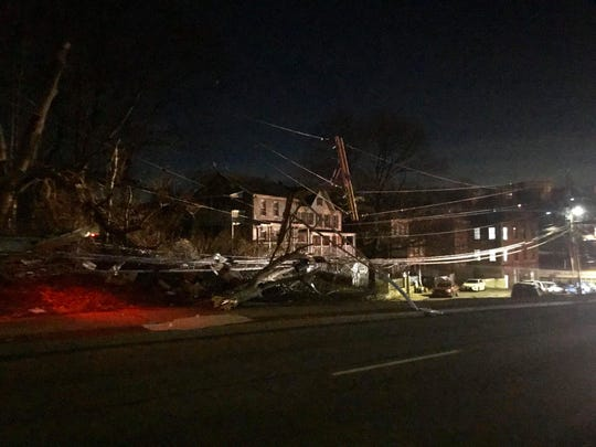 A truck crash on Route 9 in Ossining knocked out power to hundreds of Con Edison customers on March 11, 2020.