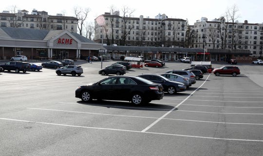 Lots of empty parking spaces at the Quaker Ridge Shopping Center in New Rochelle, March 11, 2020.