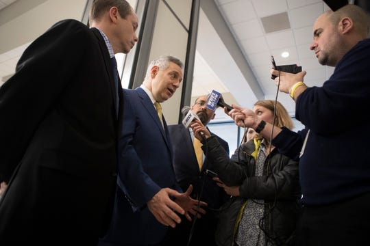 University of Delaware President Dennis Assanis speaks to the media about how the coronavirus has impacted operations at the University of Delaware Wednesday at the Carvel State Building.