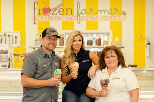 The Frozen Farmer is a family operation run by (left to right) Kevin Evans, Katey Evans and Katey Evans' mom Jo Ellen Algier.