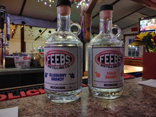 Feebs Distilling Co. is now open, offering flavored brandy in Milford. Feebs' whiskey and bourbon are currently aging in barrels and are expected to roll out in the fall.