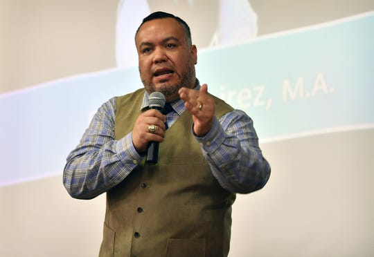 Youth motivational speaker Fabian Ramirez brought his anti-bullying message to Barwise Middle School Wednesday on behalf of Communities In Schools of Greater Wichita Falls. Ramirez is based in Washington D.C. and experienced bullying as a kid.