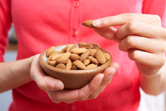 Almonds are a great source of magnesium and add extra crunch to sauteed chicken.