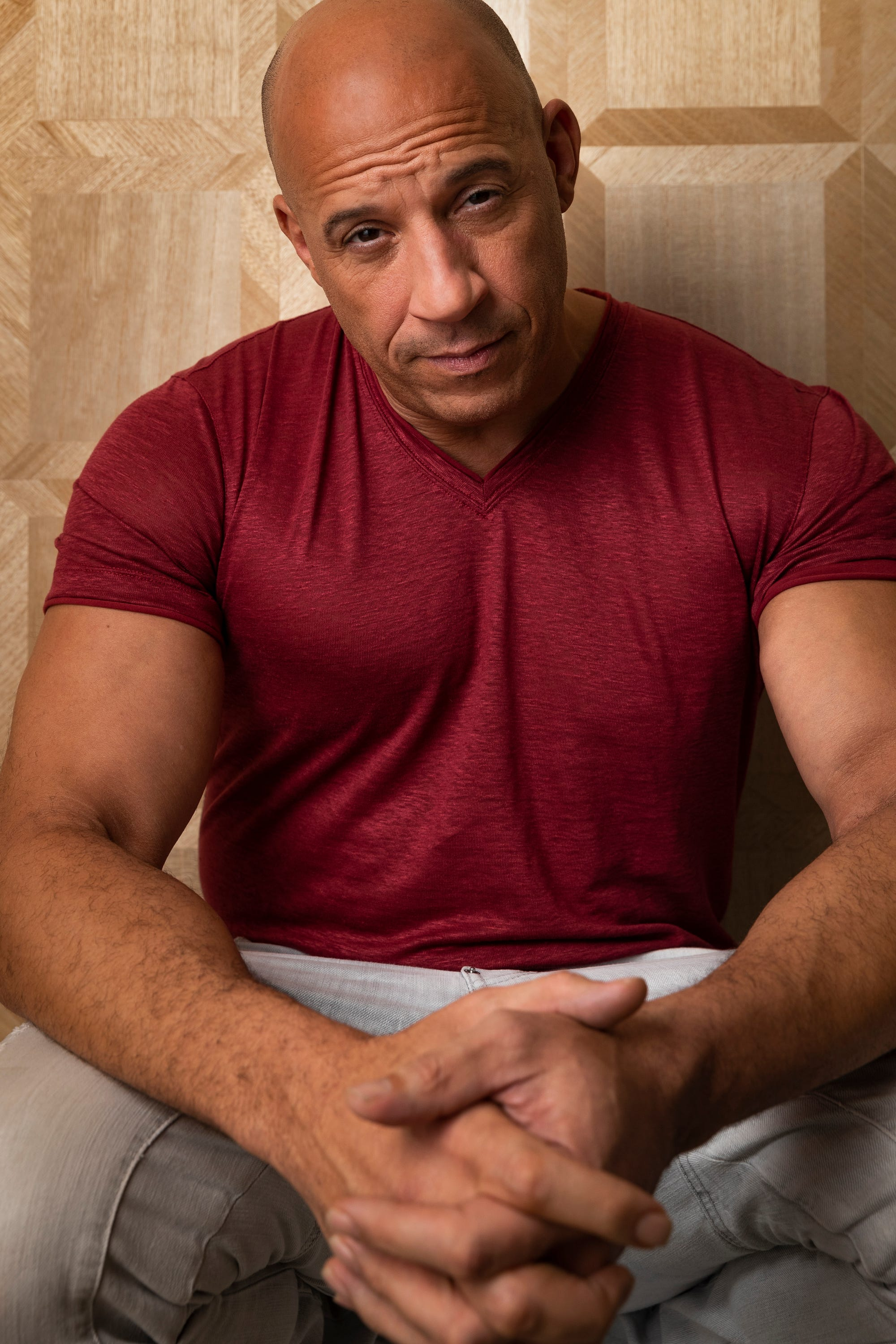 Vin Diesel talks  Bloodshot,  Steven Spielberg and the history behind his iconic tank top