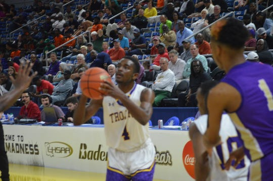 ASH senior Latrell Holly shoots a shot against Hahnville in the Class 5A semifinals Wednesday.
