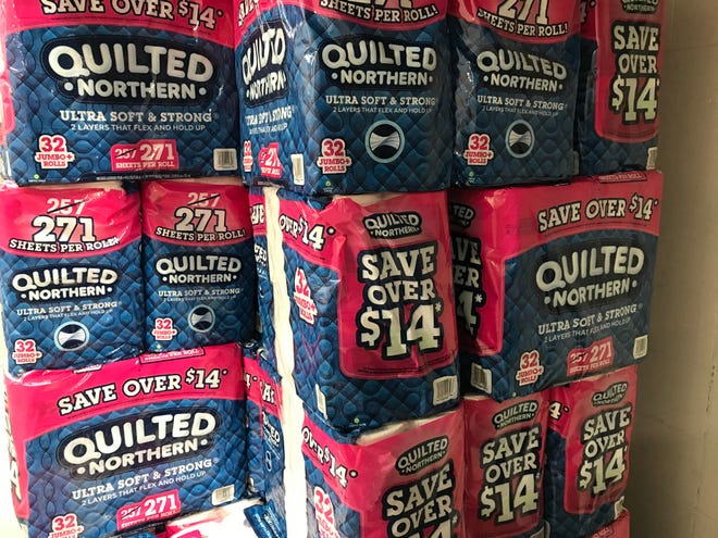 Toilet paper is one of the items shoppers want to make sure they have in quantity.