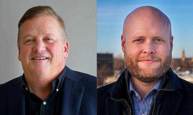 James Clemons, left, and Jake Woodford are candidates for Appleton mayor.