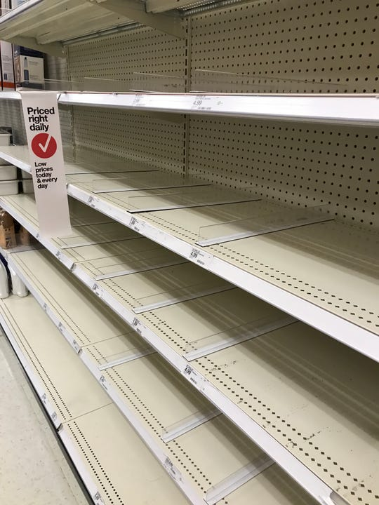 A Target employee said wipes were expected to be delivered today.