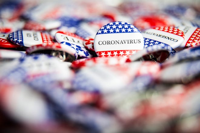 Election officials will take precautions to prevent the spread of coronavirus.