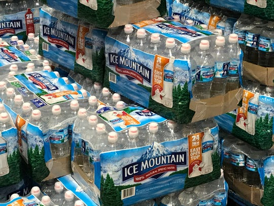 Stores have plenty of water in stock.