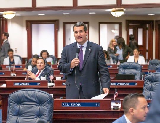 Florida Rep. Tyler Sirois speaks on the House floor.
