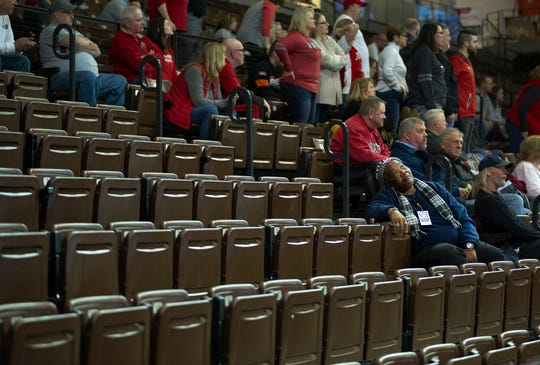 Johnstown-Monroe fans were scarce due to the OHSAA's limitations on spectators during their D-III regional semifinal against Metamora Evergreen.