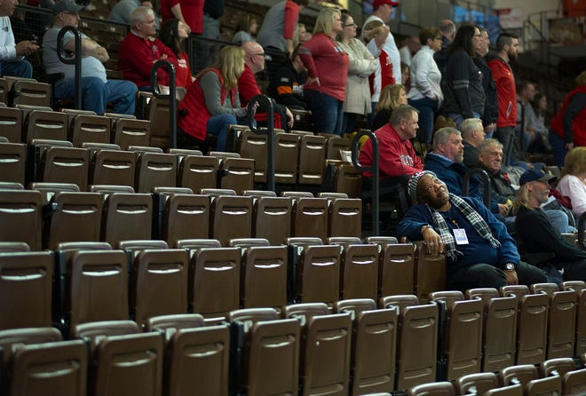 Johnstown-Monroe fans were scarce due to the OHSAA's limitations on spectators during their D-III regional semifinal against Metamora.