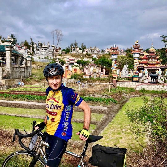 """Vermont author Chris Bohjalian and his wife, photographer Victoria Blewer, took a bike tour in Vietnam in 2018 as he researched his new novel, """"The Red Lotus."""""""