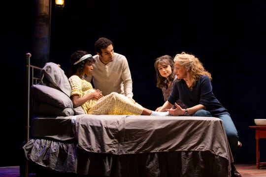 """From left to right, Monique Robinson, Ryan George, Grace Experience and Ellen McLaughlin performed in Chris Bohjalian's play """"Midwives"""" from Jan. 21-Feb. 16, 2020 at the George Street Playhouse in New Brunswick, New Jersey."""