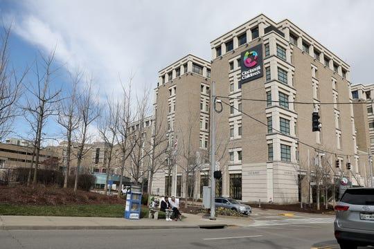 Cincinnati Children's Hospital, pictured, Thursday, March 12, 2020, in Cincinnati, Ohio.
