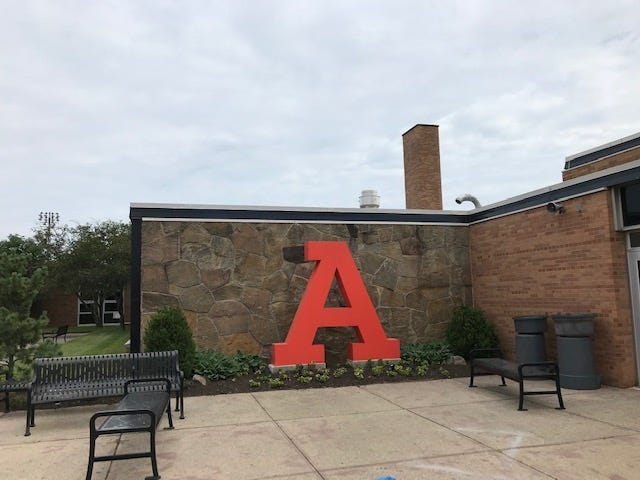 A place to catch your breath at Anderson High School.