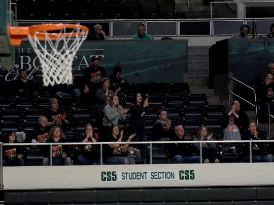 Ridgewood fans cheered for their team during Wednesday night's loss to Proctorville Fairland at Ohio University's Convocation Center.