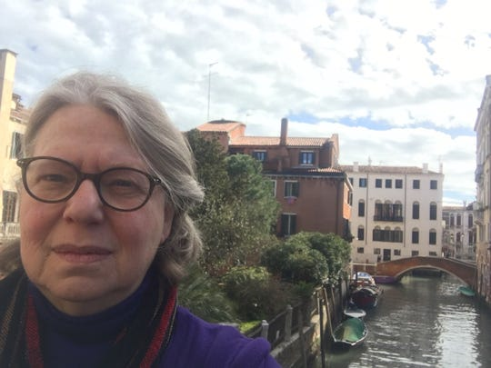 Amy Worthen in Venice, Italy, on March 4, 2020.
