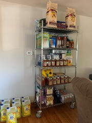 Food stockpiled by Sara and Auriel Willette