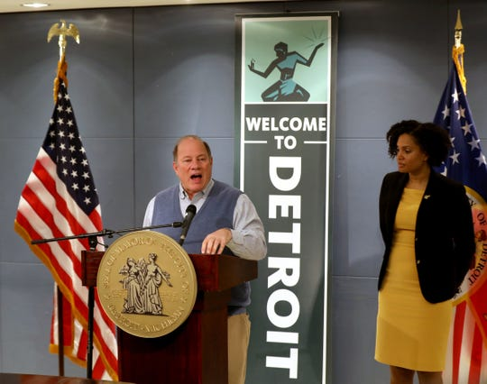 Mayor Mike Duggan talks about the Coronavirus and the Detroit Health Department's recommendation for response to the growing problem.Duggan spoke along with Denise Fair the chief public health officer inside the mayor's office at City Hall in Detroit, Michigan on Thursday, March 12, 2020.